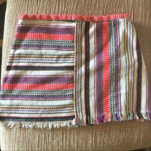 Zara Trafaluc Boho fringe mini A-line skirt
